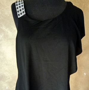 Beldini women's black embellished top sleevless